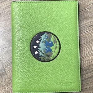 Coach F32465 NASA Men's Earth Space Passport Case